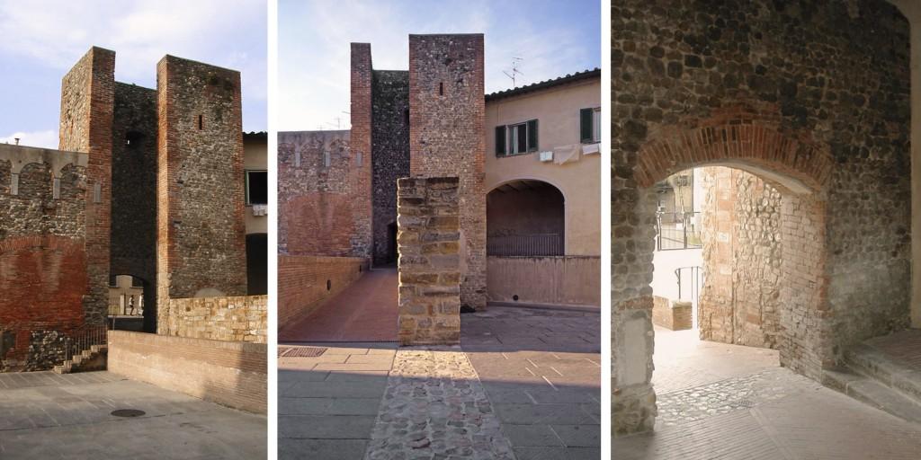 Il passaggio attraverso la torre angolare delle mura di San Giovanni Valdarno