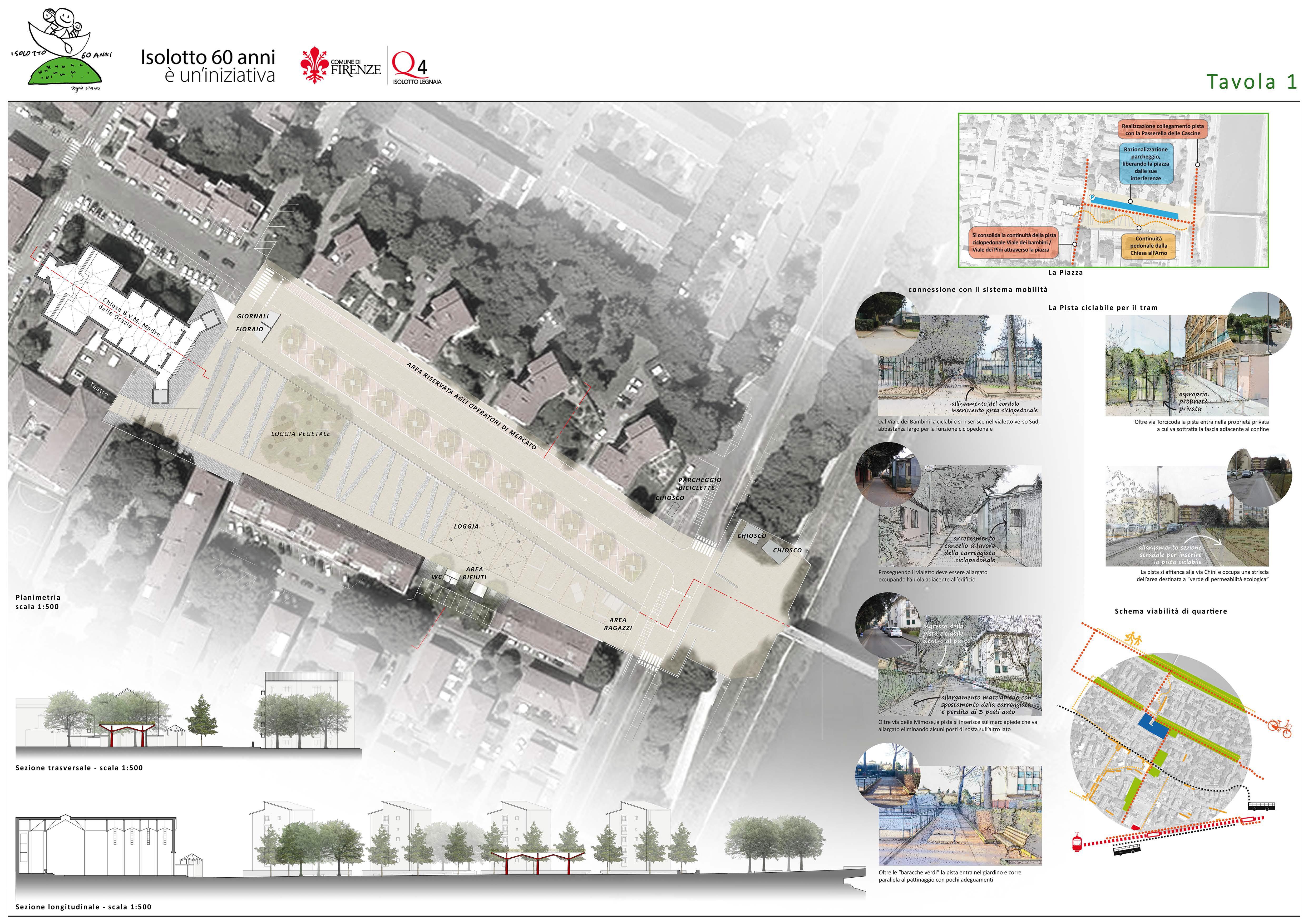 Piazza isolotto francesco barbagli architetto - Tavole di concorso architettura ...