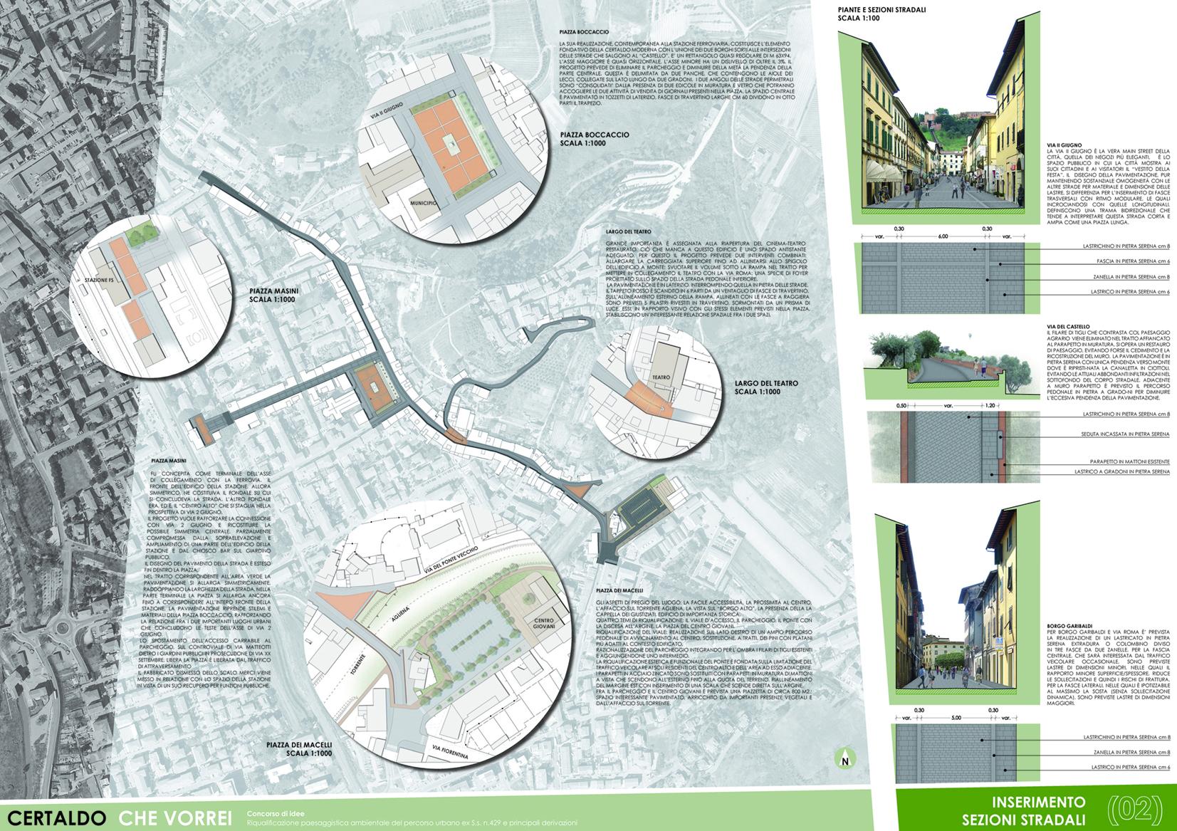 Piazza boccaccio francesco barbagli architetto - Tavole di concorso architettura ...